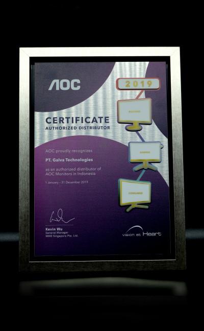 AOC Certificate - Authorized Distributor 2019