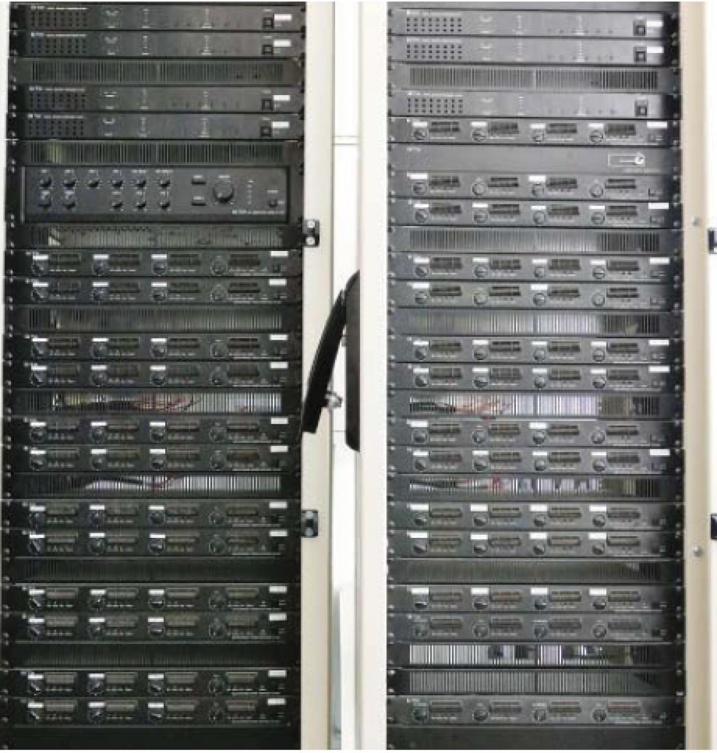 27 TOA DA-250F amplifiers in use