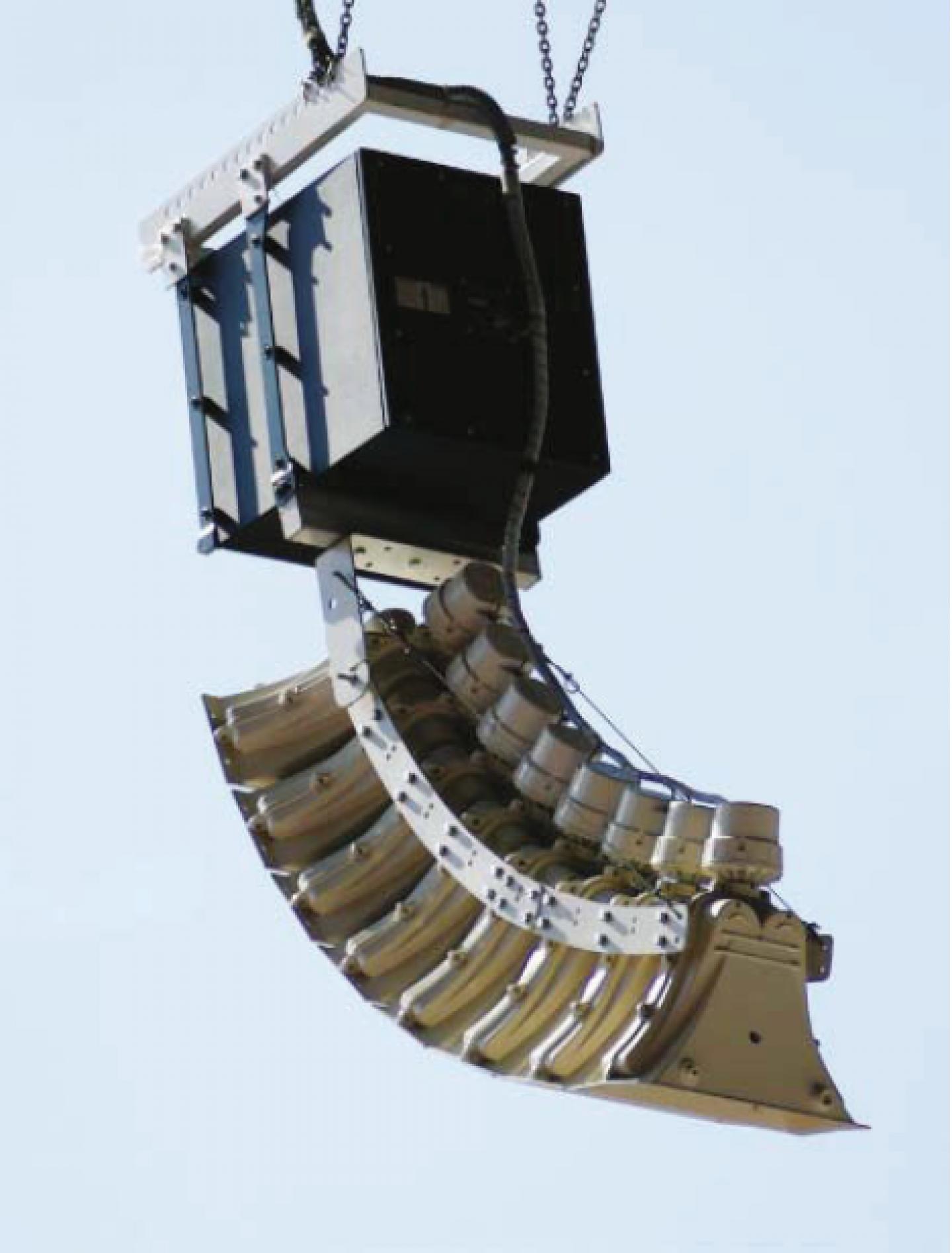 An upper-level SC-61 cluster array and SR-C15 subwoofer